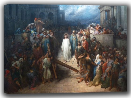 Dore, Gustave: Christ Leaving the Courtroom. Fine Art Canvas. Sizes: A4/A3/A2/A1 (002628)
